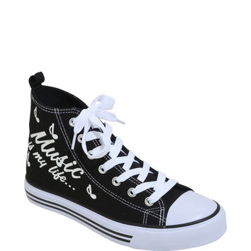 Music Is My Life Hi-Top Sneakers