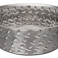 Loving Pets Diamond Plated Dog Bowl Dish 3 Quarts
