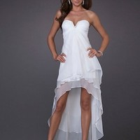 Elegant Customer Made New Design White Strapless V Neck Evening Dress