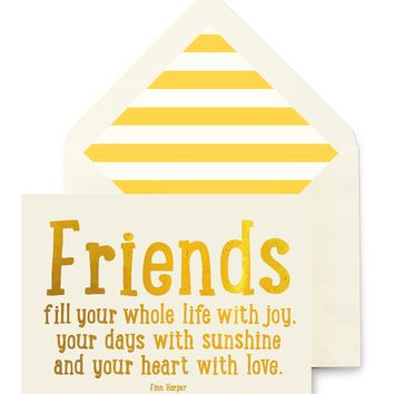 Friends Fill Your Whole Life Greeting Card, Single Folded Card or Boxed Set of 8