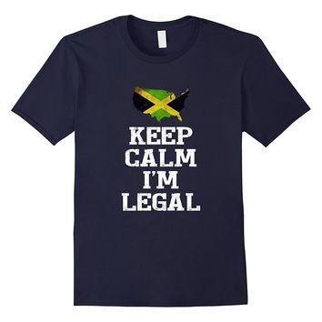 Keep Calm I'm Legal ~ Funny t-shirt Jamaica Flag