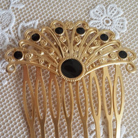 Hair Accessories - Bridesmaid Acessories - Gold Hair Comb - Bridesmaid Hair Comb - Crystals Hair Comb - Gold Hair Accessories