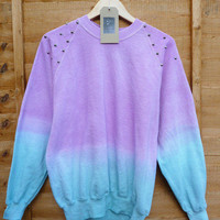 lilac to light blue sweater with studs