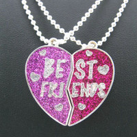 Free Shipping 2 Piece Best friend Set Necklace--nx159
