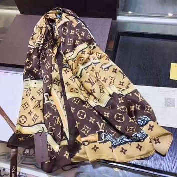 One-nice™ Louis Vuitton Woman Cashmere Scarf Shawl Silk Scarf I