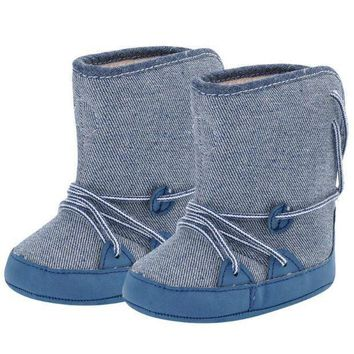 Baby Boy Shoes Warm Snow Boots Lace Up Soft Sole Baby Shoes Children Toddler Kids Foot