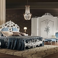 Double bed with upholstered headboard 11213 Villa Venezia Collection by Modenese Gastone group