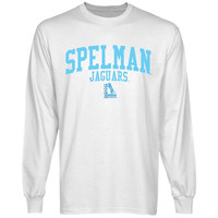 Spelman College Jaguars Team Arch Long Sleeve T-Shirt - White