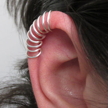 Multi Loop Cage Ear Cuff, No Pierce Ear Wrap, Helix Cuff, Upper Helix Jewelry, Cartilage Accessory, Cartilage Jewelry