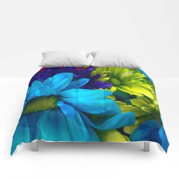Shades of Flowers Comforters by UMe Images