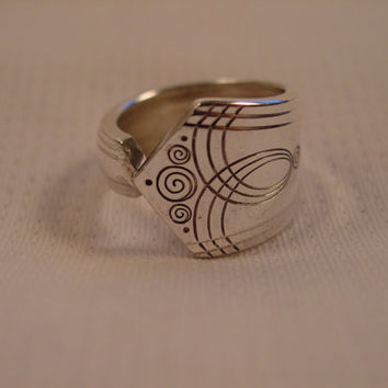 Ridiculously Cute Spoon Ring Size 7 Antique Spoon and Fork Jewelry t349
