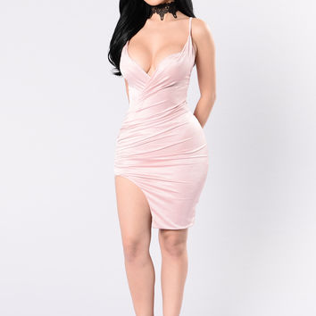 It's About Us Dress - Blush