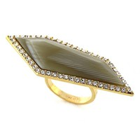 Women's Louise et Cie 'Octagon Stones' Ring - Gold/ Horn/ Crystal