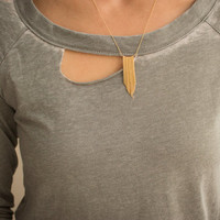 10% SALE Gold Filled Chain Tassel Necklace