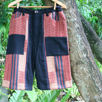 Ethnic Naga Mens Shorts In Hand Woven Tribal Patterns And Natural Cotton - Luke
