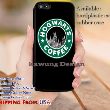 Coffee Hogwarts Harry Potter Starbucks iPhone 6s 6 6s+ 5c 5s Cases Samsung Galaxy s5 s6 Edge+ NOTE 5 4 3 #movie #HarryPotter dl11