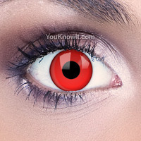 Funky Eyes Red Contact Lenses | Coloured Contact Lenses
