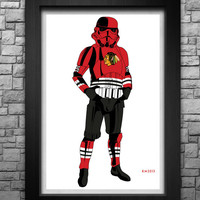 "STORMTROOPER ""Chicago Blackhawks (classic version)"" limited edition art print. Available in 3 sizes!"