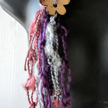 Bohemian Necklace Scarf, Fiber Art, Gypsy Necklace, Summer Scarf, Chain Cowl, Fortune Teller, Festival