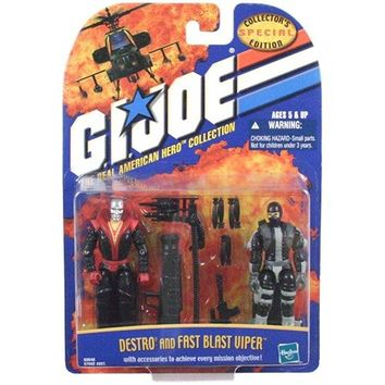 Gi Joe Destro and Fast Blast Viper Action Figure 2 Pack