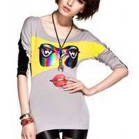 *Free Shipping* Ladies Cotton Grey T-Shirt One Size FZ9289g from efoxcity