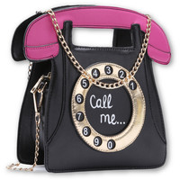 Call Me Telephone Purse Bag