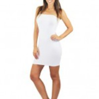 Strapless White Stretchy Slip