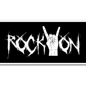 Rock On Vinyl Sticker (Free Shipping)