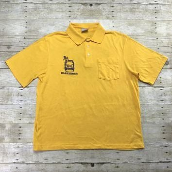Vintage 1992 Sacramento Jazz Jubilee Coors Bartender Polo Shirt Mens Size XL