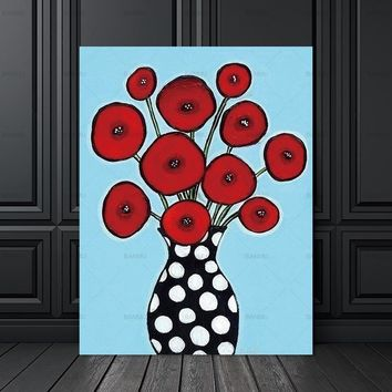 Wall art  painting abstract flower decor poster Canvas Painting canvas painting print  Picture home decor Wall Picture no frame