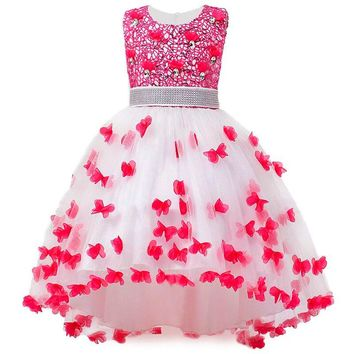 Girl Summer Dress Kids Clothes Flower Girls Dress For Wedding Events Party Baby Girl Birthday Dress Children Clothing