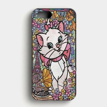 Marie Cat DisneyS The Aristocats Stained Glass iPhone SE Case