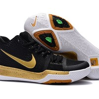 2017 Nike Kyrie 3 Black Gold For Sale