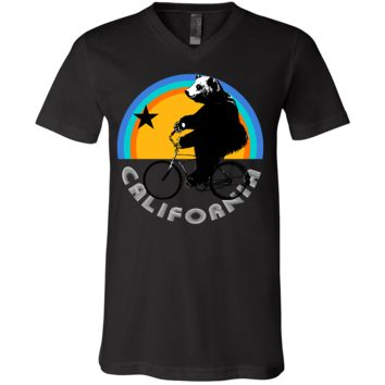 California Bear On Bike Asst Colors V-Neck