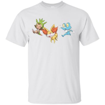 POKEMON - 20TH ANNIVERSARY KALOS STARTERS T SHIRT