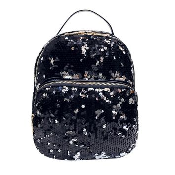 New Style Korean Fashion Backpack Women Fashion School Style Sequins Travel Satchel School Bag Backpack Bag High Capacity Saco