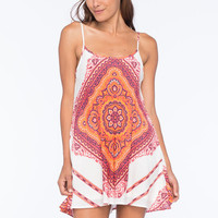 Mimi Chica Scarf Print Slip Dress Multi  In Sizes
