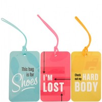 Flight 001 – Where Travel Begins. F1 Plastic Tag Set Graphic - Luggage Tags - Flight 001 Products