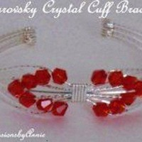 RED SWAROVSKI CRYSTAL BRACELET | IMPRESSIONSbyAnnie - Jewelry on ArtFire