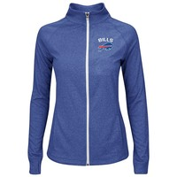 Majestic Buffalo Bills Count The Wins Full-Zip Fleece - Women's, Size:
