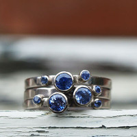 Sapphire Stacking Rings