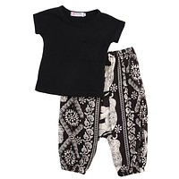 Girl Clothes Shirts + Harem pants Girls Clothing Sets  Fashion Baby Girl Clothes Kids Clothes Sets