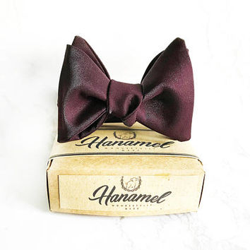 Hanamel Handmade Wine Red Burgundy Bow Ties, Wedding Burgundy Bow Tie, boys bow tie, Mens Burgundy bowtie, Groomsmen bowtie, Classy Bow Tie