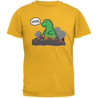 Monsters Hate Architecture Gold Adult T-Shirt