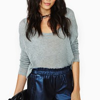 Whitney Eve Midnight Confessions Faux Leather Shorts