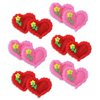 Valentine Icing Double Hearts