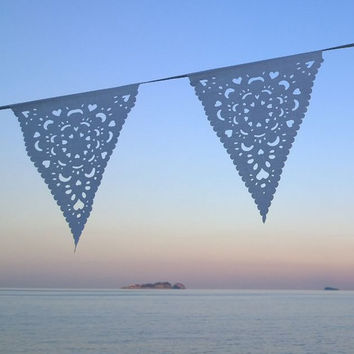 White lace wedding bunting, perfect decoration for your day
