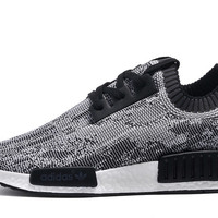 Adidas NMD R1 Men Runner Primeknit Glitch Camo Black/White