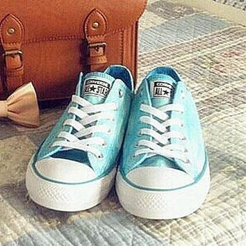 Women With Men White Converse Fashion Canvas Flats Sneakers Sport Shoes