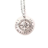 I Will Always Find You Hand Stamped Necklace, Once Upon a Time Jewelry, Snow and Charming Necklace